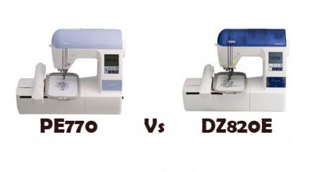 brother pe770 vs dz820e