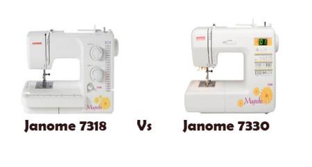 Janome Magnolia 7318 Vs 7330
