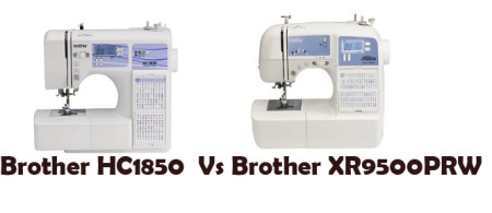 comparison brother hc1850 vs brother xr9500prw