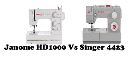 Janome HD1000 Vs Singer 4423