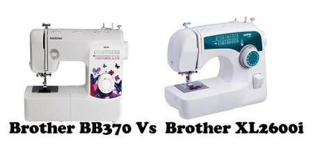 Brother BB370 Vs XL2600i
