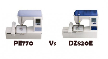 Brother PE770 vs Designio DZ820E – Comparison