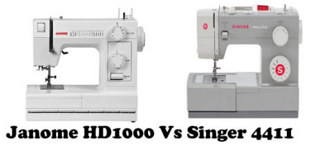 Janome HD1000 Vs Singer 4411 – Detailed Comparison