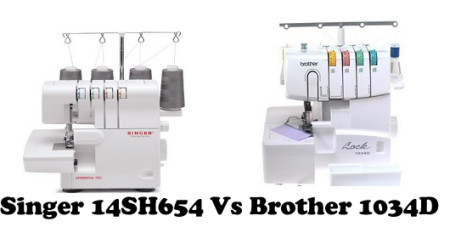Singer 14SH654 Vs Brother 1034D – Detailed Comparison