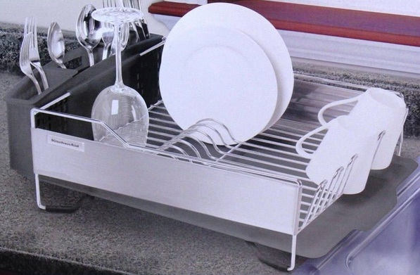 KitchenAid Stainless Steel Dish Rack Review – Not A Great One To Have