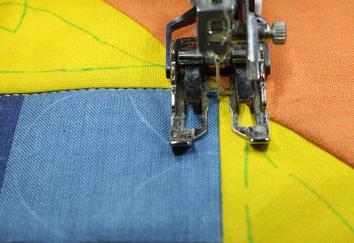 Keeping All Layers of Fabric Even and Smooth While Sewing Them Together