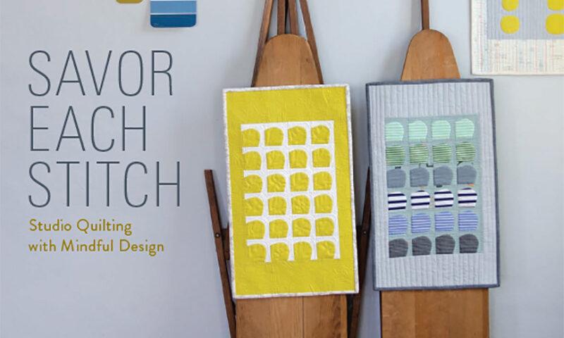 Big Stitch Coasters from Carolyn Friedlander + Why Sew Slow?