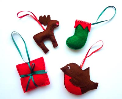 Hand-Stitched Christmas Ornaments